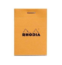 Rhodia Staplebound Notepad, Lined 80 sheets, 2 x 3, Orange