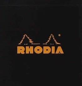 Rhodia Staplebound Notepad - Lined 80 sheets, 2 x 3 , Black