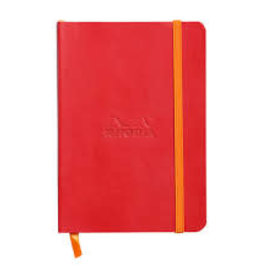 Rhodia Rhodia Rhodiarama SoftCover Notebook, 72 Lined Sheets, 4 x 5 1/2, Poppy Cover