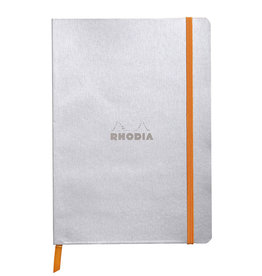 Rhodia Rhodia Rhodiarama SoftCover Notebook, 80 Lined Sheets, 6 x 8 1/4, Silver Cover