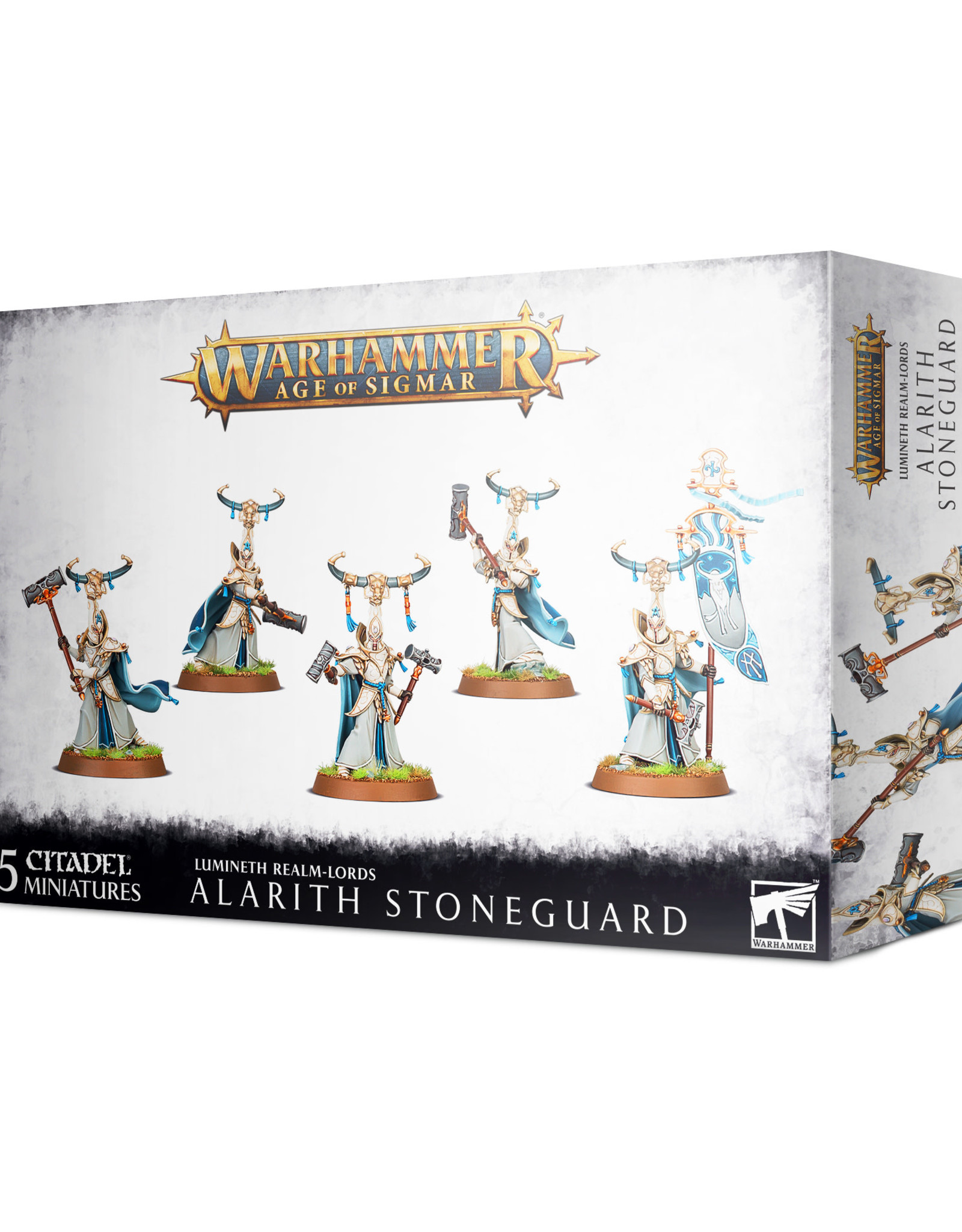 Games Workshop Warhammer AOS Lumineth Realm-lords Alarith Stoneguard