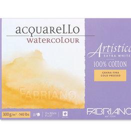 """Fabriano Fabriano Artistico Extra White Watercolor Block 140lb 12"""" x 18"""""""