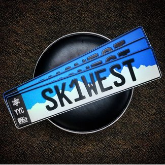 Ski West Euro License Plate