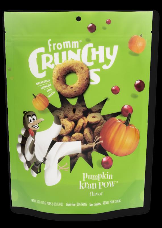 Fromm Family Pet Food Fromm Crunchy O's Pumpkin Kran Pow Dog Treats 6-oz
