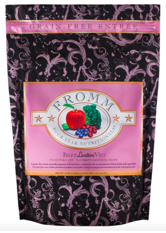 Fromm Family Pet Food Fromm Four-Star Grain-Free Beef Livattini Veg Recipe Dry Cat Food