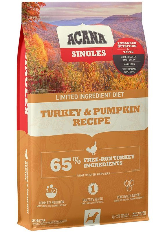 ACANA ACANA Singles Turkey & Pumpkin Recipe Dry Dog Food
