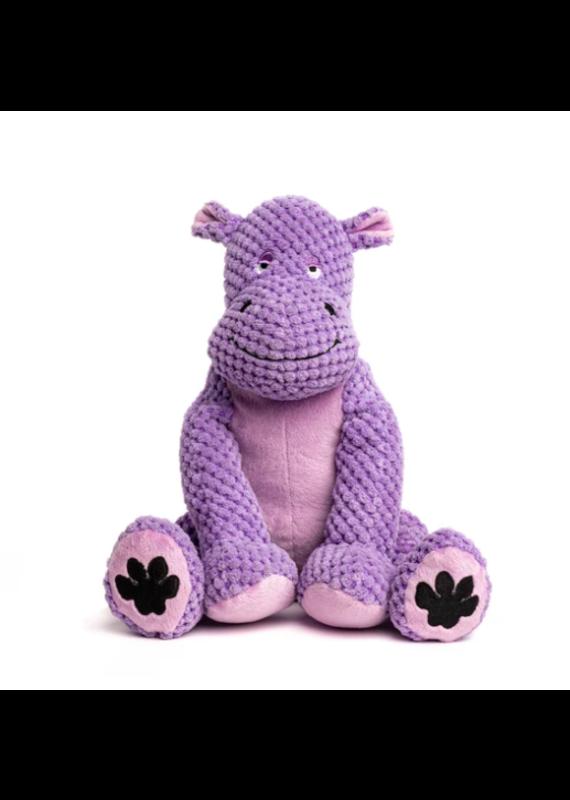 Fabdog Fabdog Floppy Hippo Plush Dog Toy