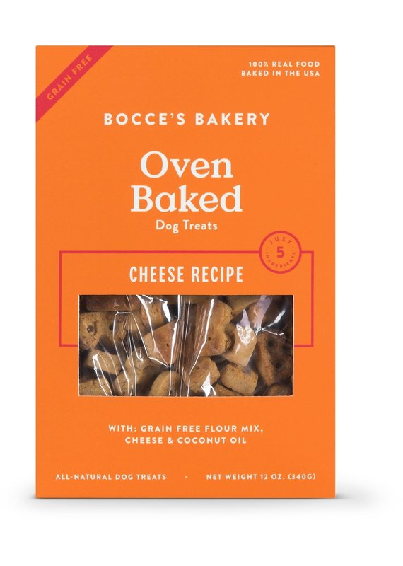 Bocce's Bakery Bocce's Bakery Grain-Free Oven Baked Cheese Recipe Dog Biscuits Treats 12-oz