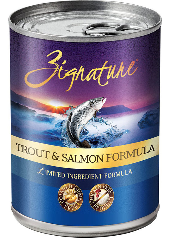 Zignature Zignature Limited Ingredient Trout & Salmon Formula Canned Wet Dog Food 13-oz