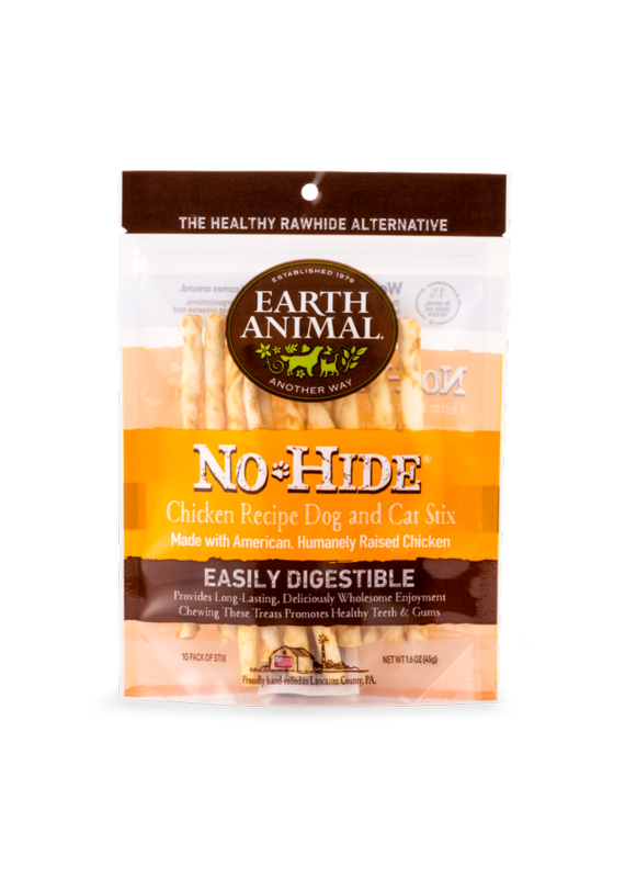 Earth Animal Earth Animal No-Hide Chicken Chew Stix Dog & Cat Treats (10 Pack)
