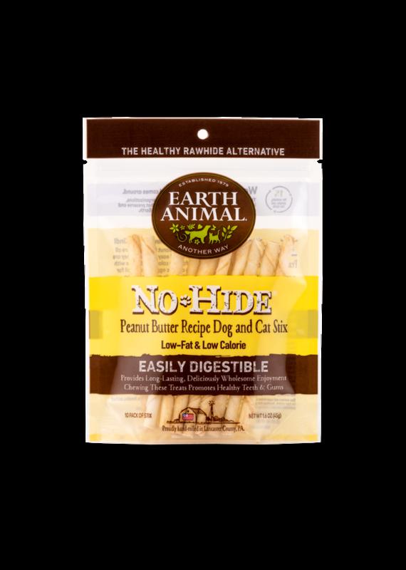 Earth Animal Earth Animal No-Hide Peanut Butter Chew Stix Dog & Cat Treats (10 Pack)