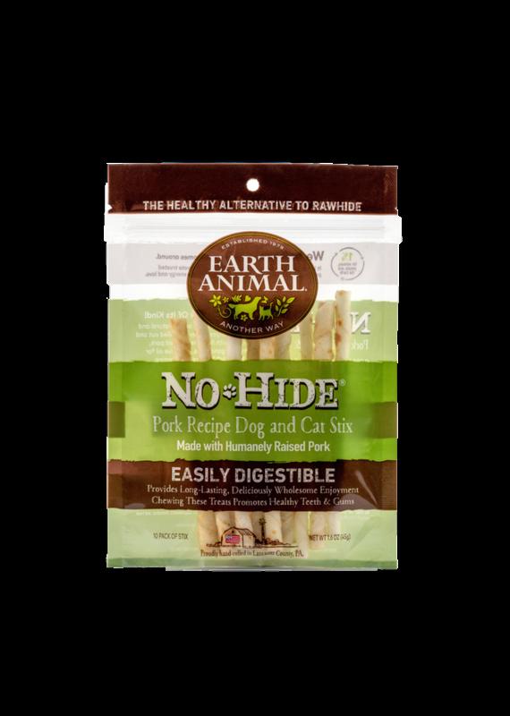 Earth Animal Earth Animal No-Hide Pork Chew Stix Dog & Cat Treats (10 Pack)