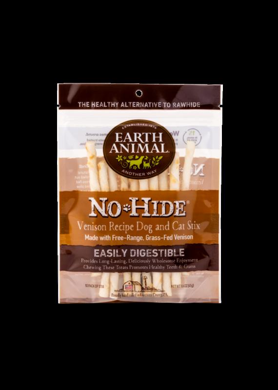 Earth Animal Earth Animal No-Hide Venison Chew Stix Dog & Cat Treats (10 Pack)