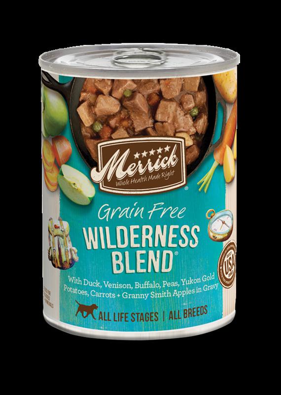 Merrick Merrick Grain-Free Wilderness Blend in Gravy Canned Wet Dog Food 12.7-oz