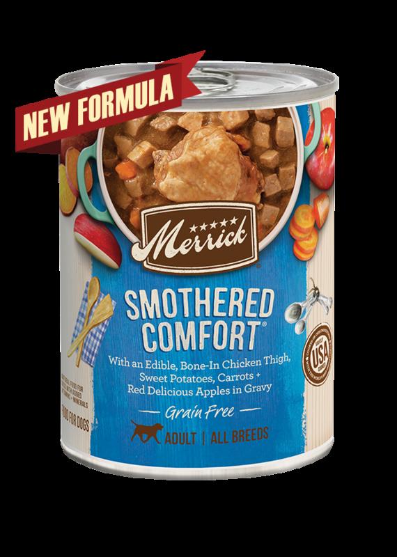 Merrick Merrick Grain-Free Smothered Comfort in Gravy Canned Wet Dog Food 12.7-oz