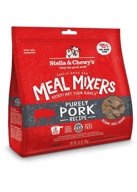 Stella & Chewy's Stella & Chewy's Meal Mixers Purely Pork Raw Freeze-Dried Dog Food