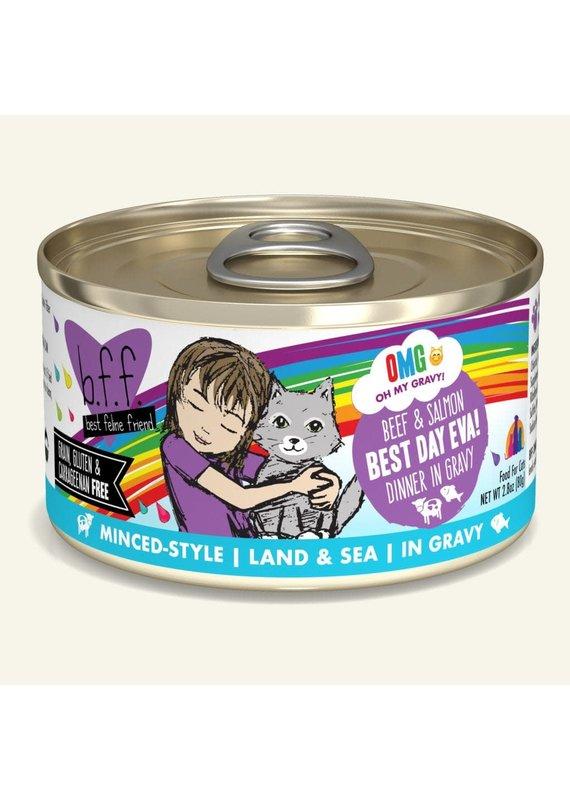 Weruva Weruva BFF OMG Beef & Salmon Best Day Eva! Canned Wet Cat Food 2.8-oz