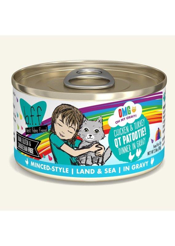 Weruva Weruva BFF OMG Chicken & Turkey QT Patootie! Canned Wet Cat Food 2.8-oz