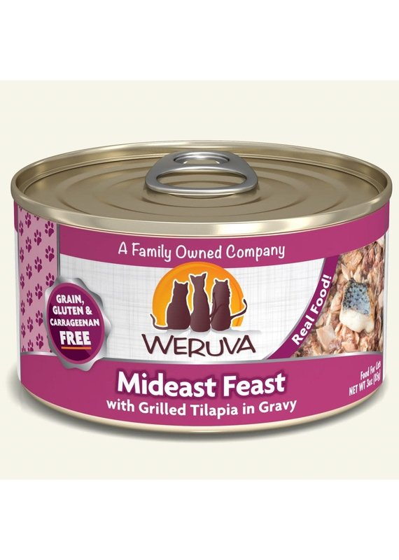 Weruva Weruva Mideast Feast with Grilled Tilapia Canned Wet Cat Food 3-oz