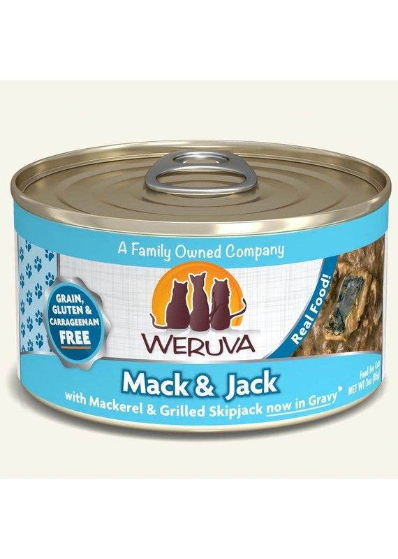 Weruva Weruva Mack & Jack with Mackerel & Grilled Skipjack Canned Wet Cat Food 3-oz