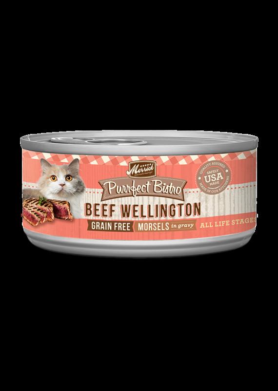 Merrick Merrick Purrfect Bistro Morsels Beef Wellington Canned Wet Cat Food 5.5-oz