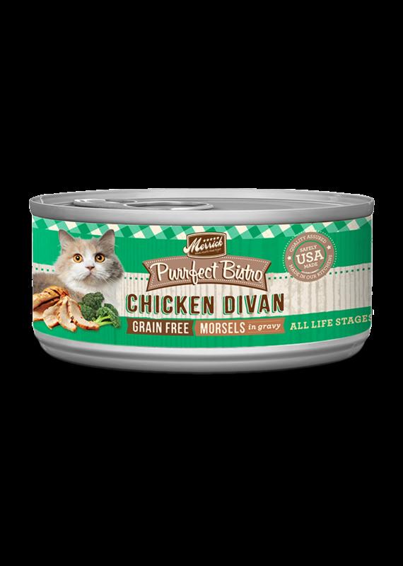 Merrick Merrick Purrfect Bistro Morsels Chicken Divan Canned Wet Cat Food 5.5-oz