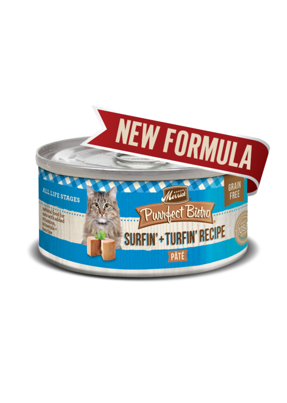Merrick Merrick Purrfect Bistro Surf + Turf Pâté Canned Wet Cat Food 5.5-oz