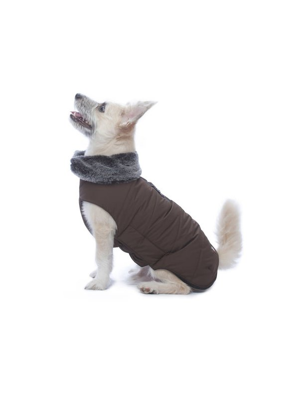 D.GS Pet Products Dog Gone Smart Brown Tamarack Dog Jacket