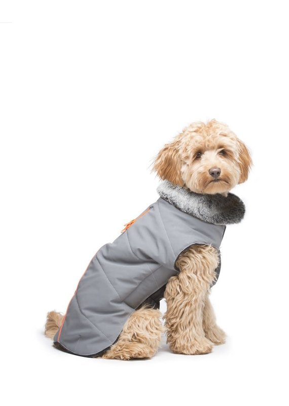 D.GS Pet Products Dog Gone Smart Orange Meteor Tamarack Dog Jacket
