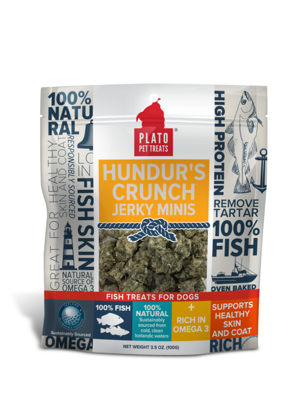 Plato Pet Treats Plato Pet Treats Hundur's Crunch Jerky Minis Fish Dog Treats