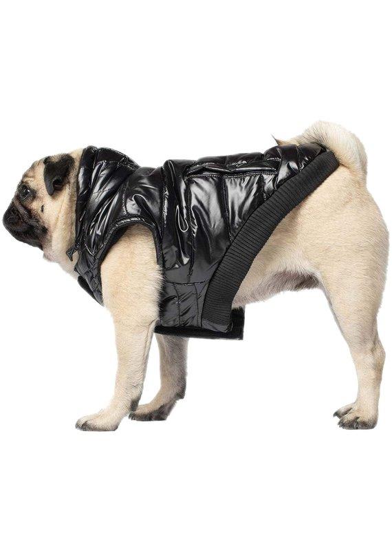 Canada Pooch Canada Pooch Black Shiny Puffer Vest Dog Jacket
