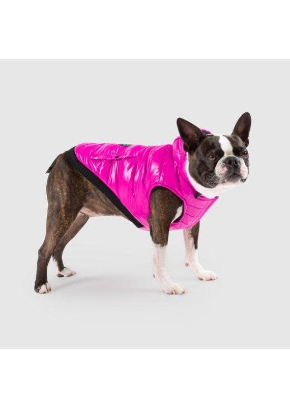 Canada Pooch Canada Pooch Pink Shiny Puffer Vest Dog Jacket