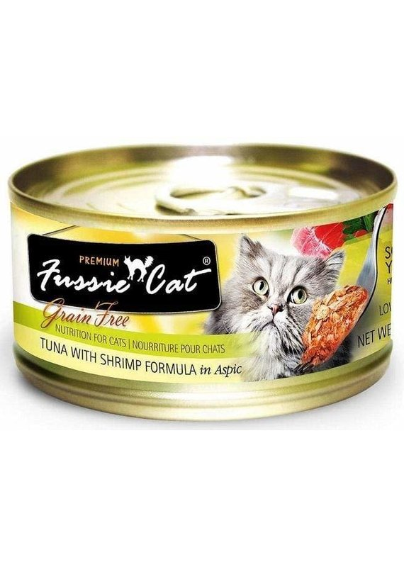 Fussie Cat Fussie Cat Premium Grain-Free Tuna with Shrimp Formula in Aspic Canned Wet Cat Food 2.82-oz