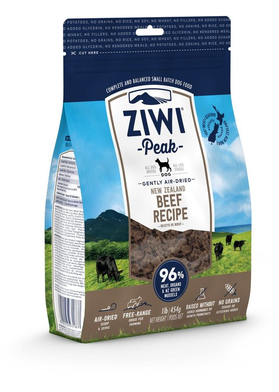 Ziwi Peak Ziwi Peak Air-Dried Beef Recipe Dog Food 16-oz