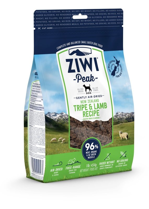 Ziwi Peak Ziwi Peak Air-Dried Tripe & Lamb Recipe Dog Food 16-oz