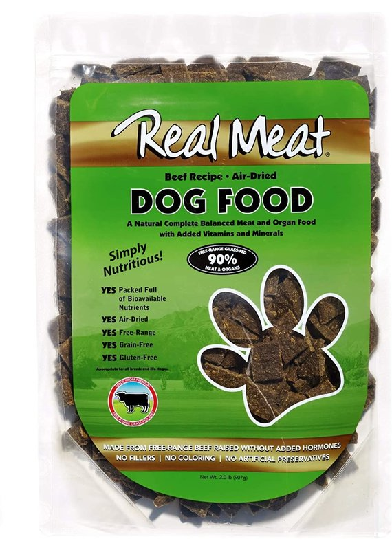 The Real Meat Company Real Meat Air-Dried Beef Recipe Dog Food 2-lb