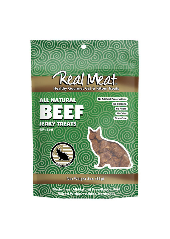 The Real Meat Company Real Meat Air-Dried Beef Cat Treats 3-oz
