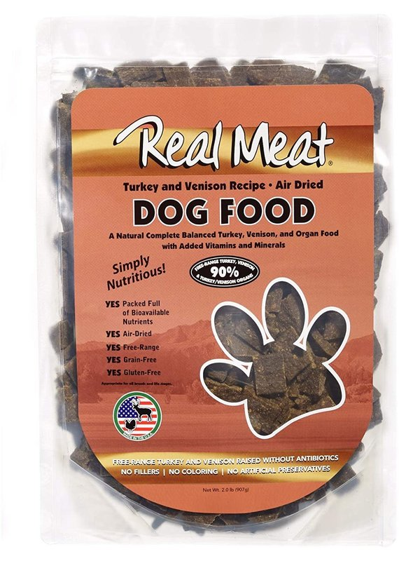 Real Meat Air-Dried Turkey & Venison Recipe Dog Food 2-lb