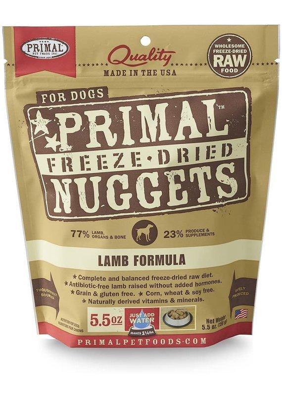 Primal Primal Freeze-Dried Nuggets Grain-Free Lamb Formula Dog Food