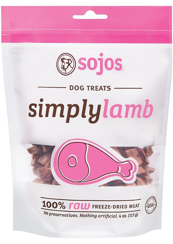 Sojos Sojos Simply Lamb Freeze-Dried Dog Treats 4-oz