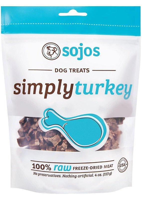 Sojos Sojos Simply Turkey Freeze-Dried Dog Treats 4-oz
