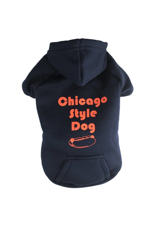 Sophisticated Pup Sophisticated Pup Chicago Style Hot Dog Hoodie