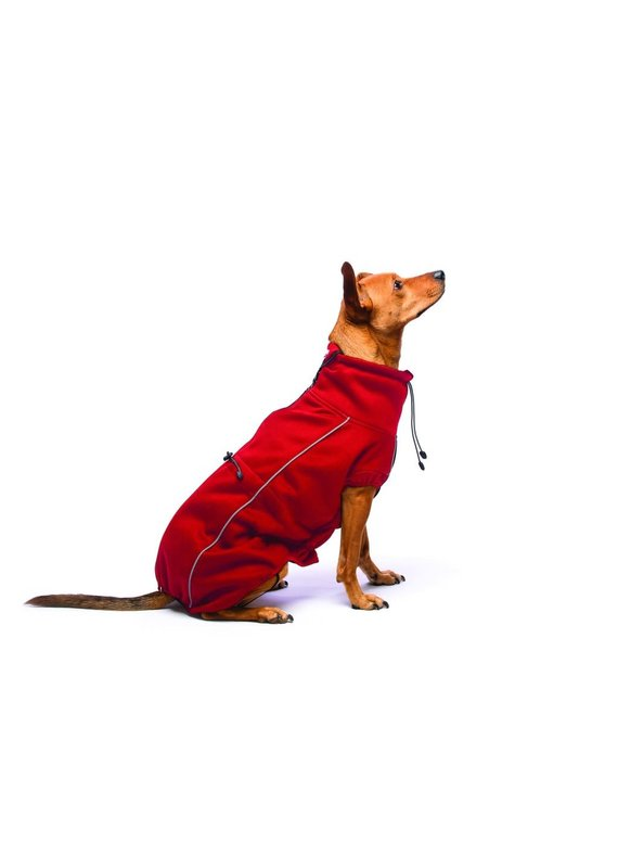 D.GS Pet Products Dog Gone Smart Red Olympia Softshell Dog Sweater