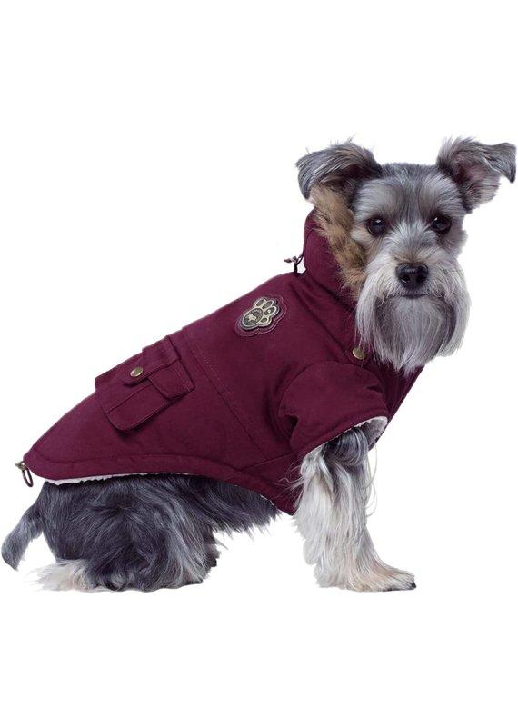 Canada Pooch Canada Pooch Maroon Alaskan Army Parka Dog Jacket
