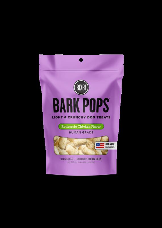 Bixbi Bixbi Bark Pops Rotisserie Chicken Flavor Light & Crunchy Dog Treats 4-oz