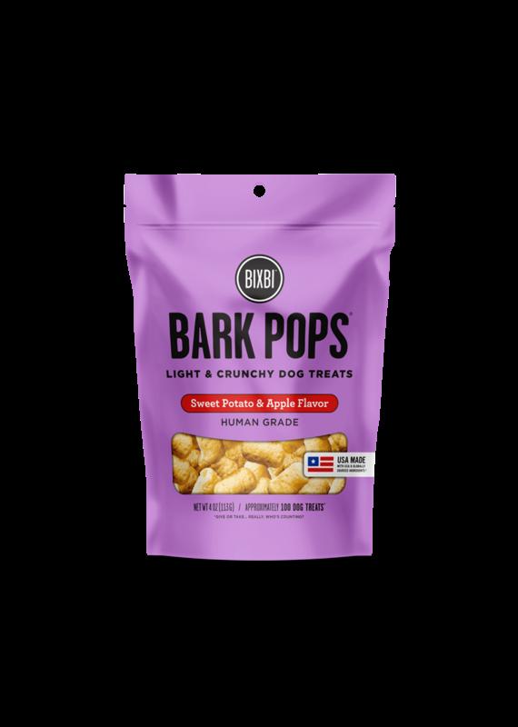 Bixbi Bixbi Bark Pops Sweet Potato & Apple Flavor Light & Crunchy Dog Treats 4-oz