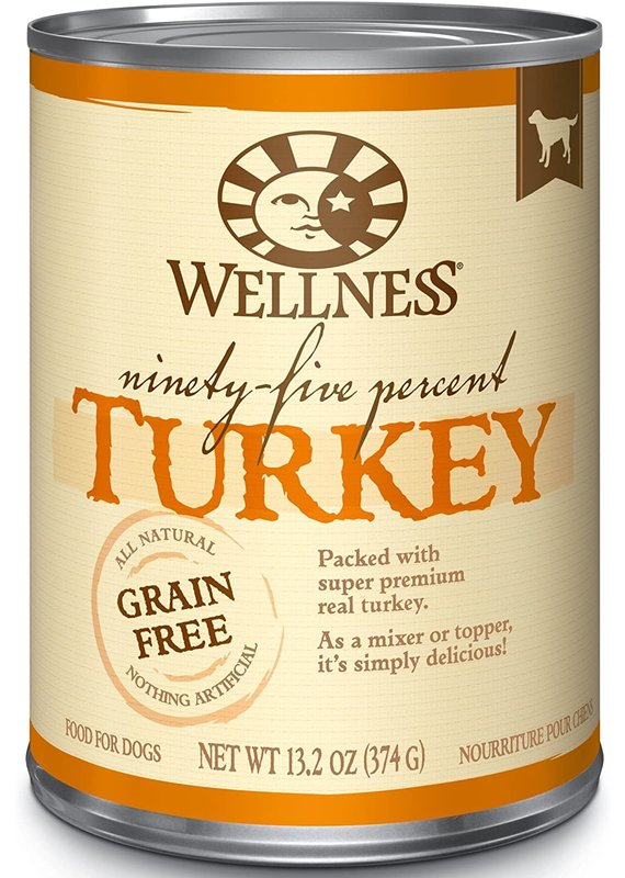 Wellness Wellness Ninety-Five Percent Turkey Mixer or Topper Wet Canned Dog Food 13.2-oz
