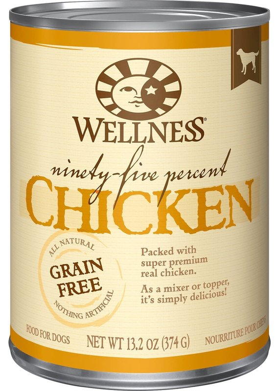 Wellness Wellness Ninety-Five Percent Chicken Mixer or Topper Wet Canned Dog Food 13.2-oz
