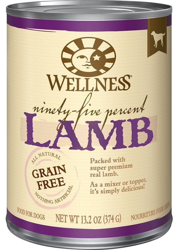 Wellness Wellness Ninety-Five Percent Lamb Mixer or Topper Wet Canned Dog Food 13.2-oz