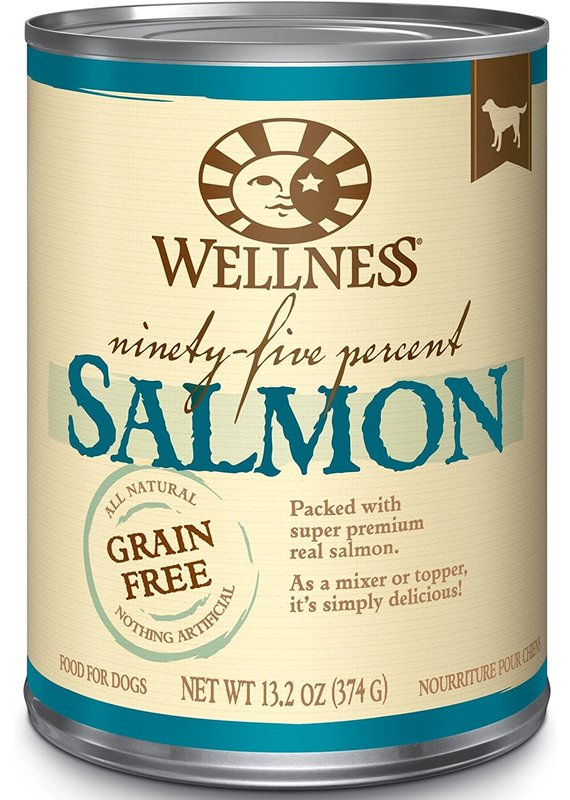 Wellness Wellness Ninety-Five Percent Salmon Mixer or Topper Wet Canned Dog Food 13.2-oz